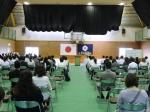 10月1日(金)、長尾谷高校枚方本校の体育館で後期入学生の入学式が開催されました。