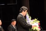 平成30年度卒業式であいさつするつくば開成高校奥田誠校長