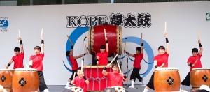神戸まつりで和太鼓演奏